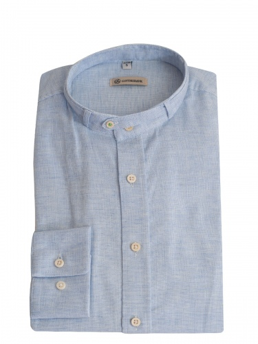 Gottseidank Trachtenhemd Lenz, himmelblau, Stehkragen, Slim