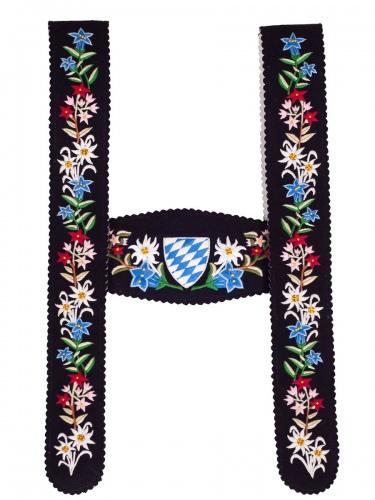 Träger Werdenfels handgest. schwarz Blume