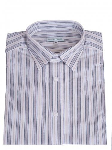 Waldorff Trachtenhemd, Pfoad, blau-grau, Liegekragen