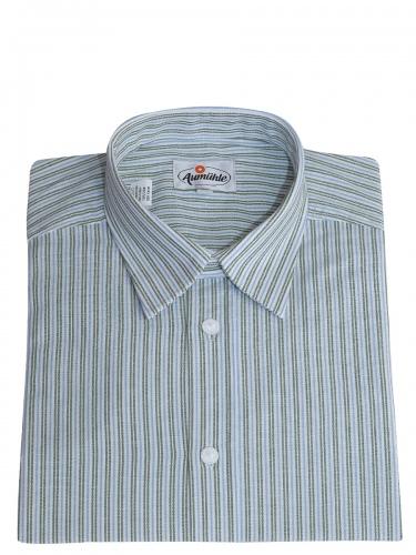 Kümmel Trachtenhemd grün mit blau gestreift