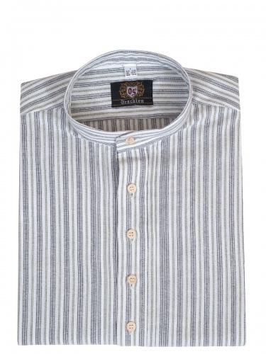 Orbis Trachtenhemd, Pfoad, trachtengrün, gestreift, Stehkragen, Pfoad