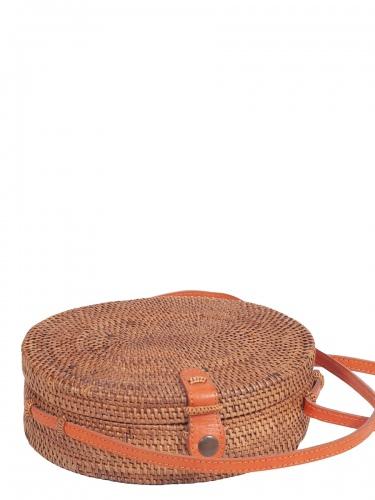 KokoKarma Atatasche, Olivia, handgearbeitet, mit Lederriemen, rund