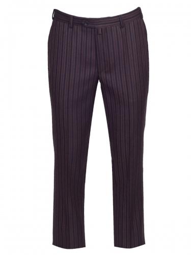Klotz Stresemann Anzughose Enrico braun-grau gestreift