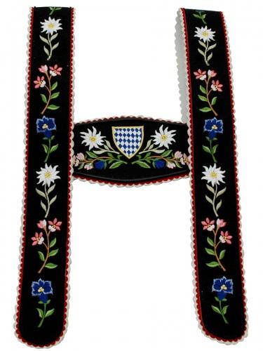 Träger Nr.2 Werdenfels schwarz Blume