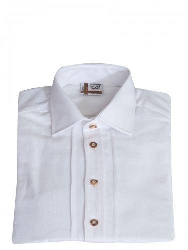 Schweighart Leinenhemd weiß, Liegekragen, festlich, Pfoad