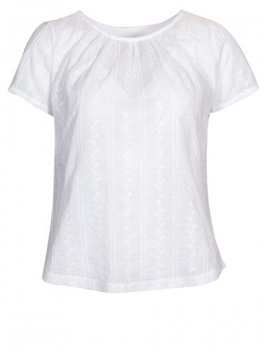 Moser T-Shirt Grafenau, weiß, Vorderseite bestickt