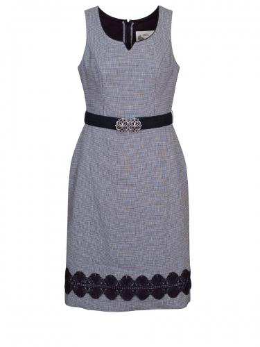 Wenger Kleid Inka, grau-schwarz, elegant mit Pepitakaro