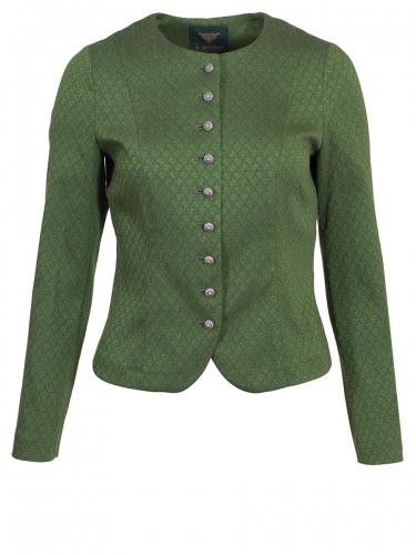 Moser Schwanberg Stretch-Janker, grün, elegant, gemustert