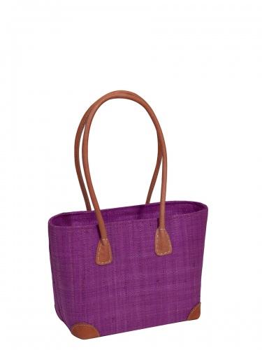 frosch & rabe Korbtasche Vero pink, kleine Handtasche