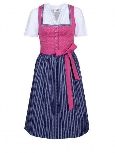 Wenger Zara Dirndl, pink-dunkelblau, Stretch, 70lg