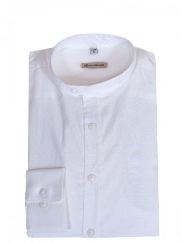 Gottseidank Trachtenhemd, reinweiß, Stehkragen, Wäscheknöpfe
