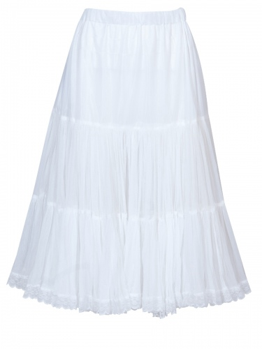 Hammerschmid Dirndl-Unterrock, Petticoat, weiß, 70cm