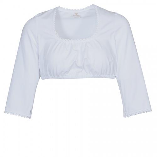 Moser Jola Dirndlbluse, weiß, elasthisch, Shirtstoff