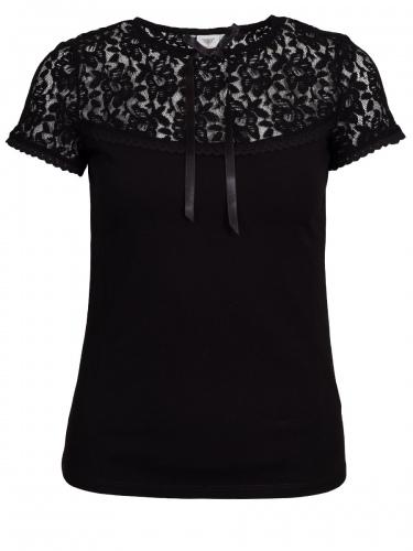 Moser Graubünden T-Shirt, schwarz, Spitze