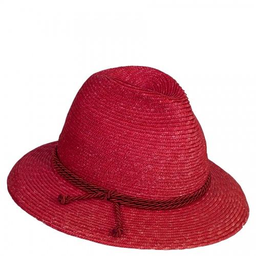 Lembert Strohhut rot, rote Kordel