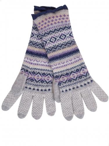 Eribè Knitwear Glove Alpine, Strickhandschuhe, artic, blau-grau
