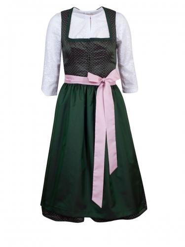 Kinga Mathe Fest-Dirndl Emma, smaragd-grün mit rosa, 65cm