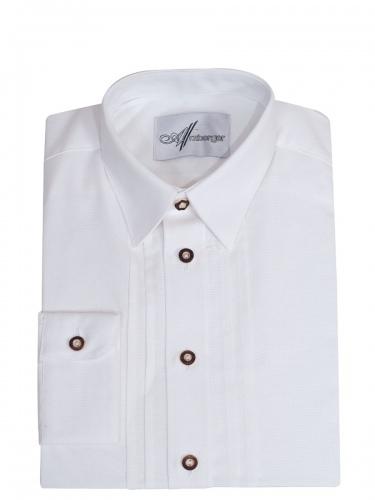 Arzberger Trachtenhemd weiß, SLIM, Liegekragen, durchgeknöpft