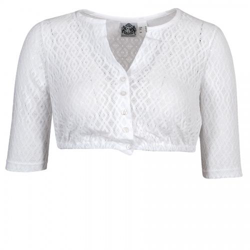 Hammerschmid Shirt-Dirndlbluse Carina, Lochmuster, Halbarm, hochgeschlossen