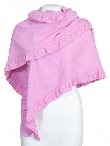 Moser Woll-Poncho Corona, rose