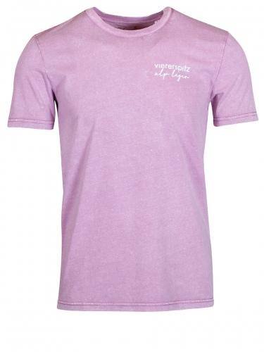 Viererspitz T-Shirt Tori unisex, vintage, mauve, Biobaumwolle