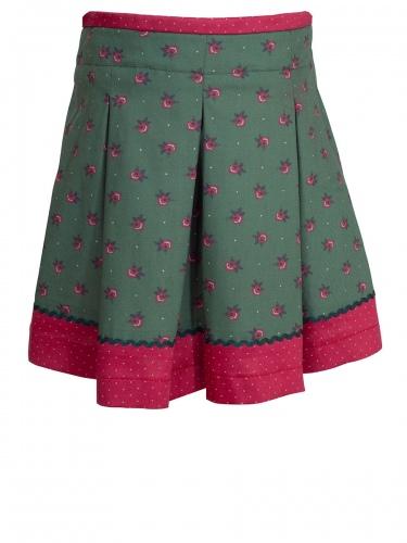 Moser Kinderrock Annemarie, grün-rot, Rosendruck