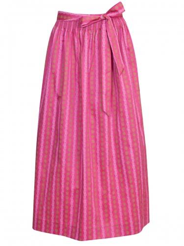 Moser Nelly Dirndlschürze, festlich, pink mit Blumen, 90cm
