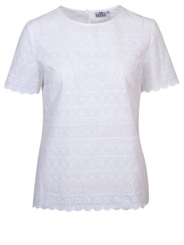 Berwin & Wolff T-Shirtbluse weiß, in sich gemustert