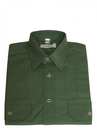 Orbis Jägerhemd einfarbig dunkelgrün