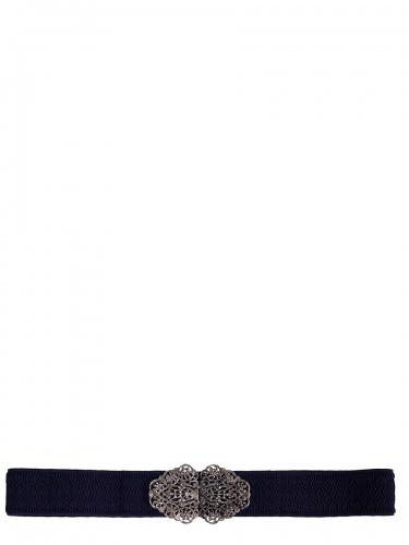 Anno Domini Design Stretchgürtel marine, silberfarbene Schließe