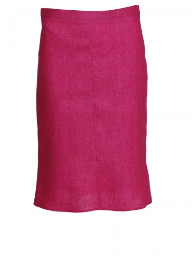 Bauer Leinenrock, leichte Glockenform, pink
