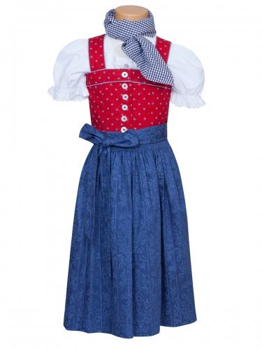 Hammerschmid Urbansee Kinder-Dirndl, rot-blau m. Bluse